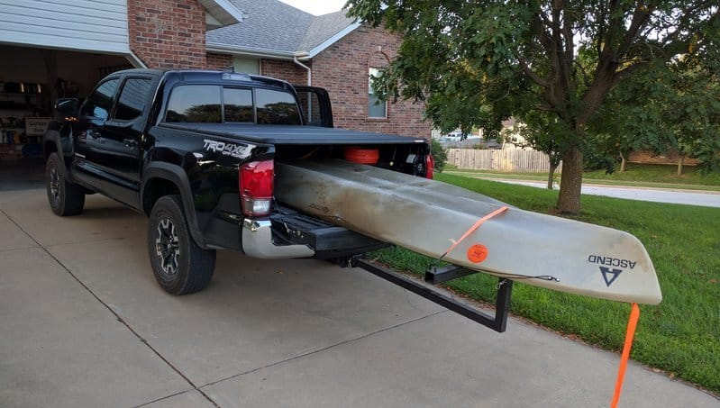 How to transport a kayak in a truck bed