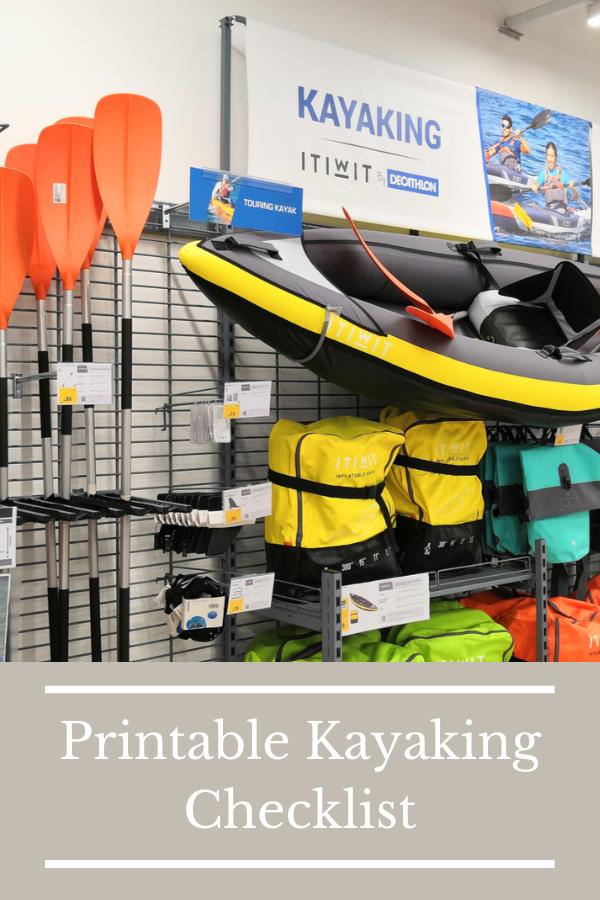 Printable Kayaking Checklist 2021
